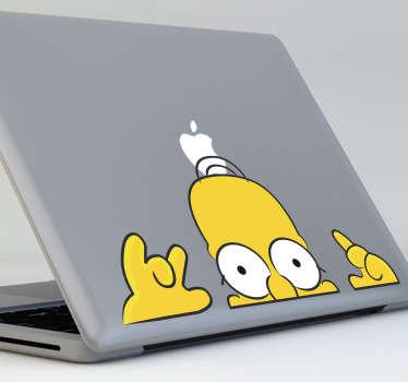 Sticker pc Homer guette couleur