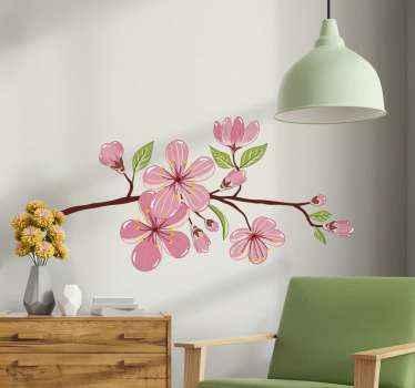 オリジナルの桜のステッカーであなたの家の壁を飾りましょう。それは多くのサイズで利用可能であり、それは適用するのが簡単です。