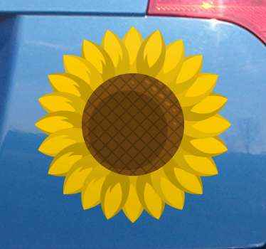 Sunflower car car sticker. This design would be lovely to decorate a lady's car but it also suits for any body.. The size is customisable.
