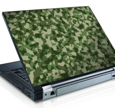 Sticker effet camouflage PC portable