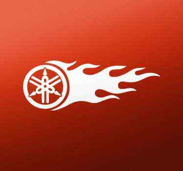 Ο σχεδιασμός yamaha διαθέτει φλόγα. αυτοκόλλητο βινυλίου υψηλής ποιότητας για να ομορφύνει οποιοδήποτε όχημα. είναι ανθεκτικό στις φυσαλίδες και τις ρυτίδες.