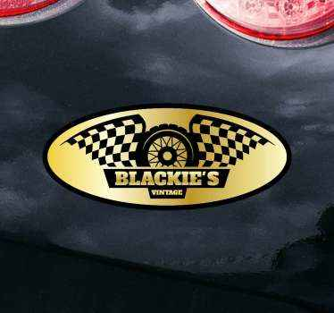 Show your love for motorcycles with this decal sticker for motcycle Blackies vintage design ! Be a biker!  Home delivery !