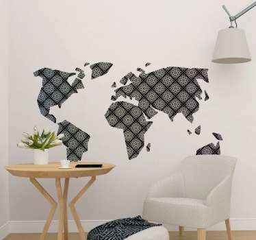Conception d'autocollant d'art créatif de la carte du monde. ces stickersest incroyable et elle décorerait votre espace avec un effet remarquable.