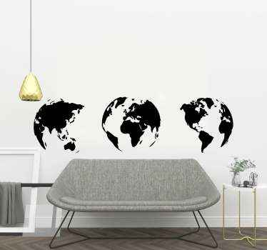 Our world map decal stickers and their unique designs will transport you and your guests to a world of dreams where you will explore all the countries