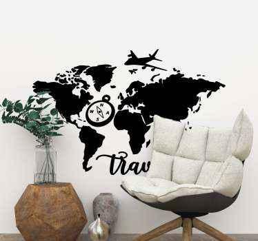 Deze wereldkaart met vliegtuig stickers zijn een originele manier om u huis te versieren. Waar wacht u op bestelling nu! Levering aan huis!