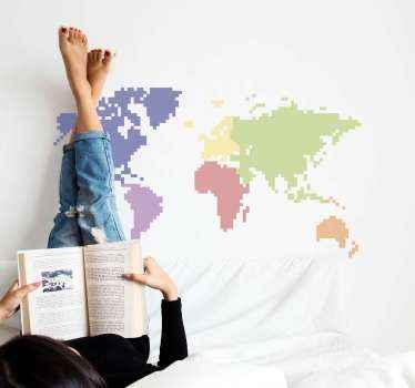 De wereldkaart muursticker stickers zullen een rustige en grillige sfeer brengen door spectaculaire en vooral originele ontwerpen.