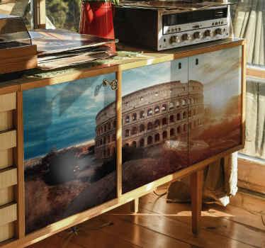 Papel adhesivo para muebles de Coliseo romano con imagen de  alta calidad que te permitirá decorar tu casa a tu gusto ¡Compra online!