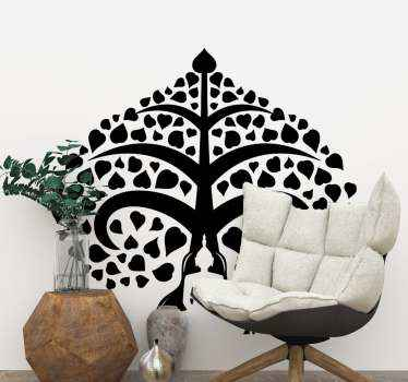 This buddha under tree monochrome sticker depicts this illstrtion of a person meditating under a tree. it is available in a large variety of colors.