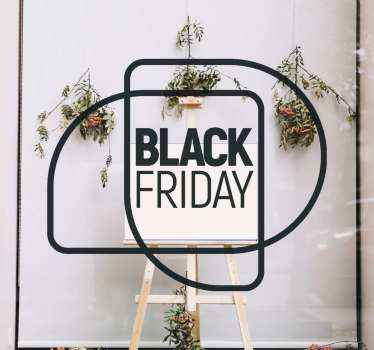 Lovely design sticker for black Friday holiday sales. The design is a text on geometric drawings background. Available in different colour options.