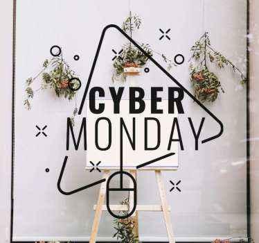 Business sales vinyl Aufkleberfür cyber montag verkauf. Mit unserem selbstklebenden vinyl-schaufenster-aufkleber können Sie für massive rabattverkäufe werben.