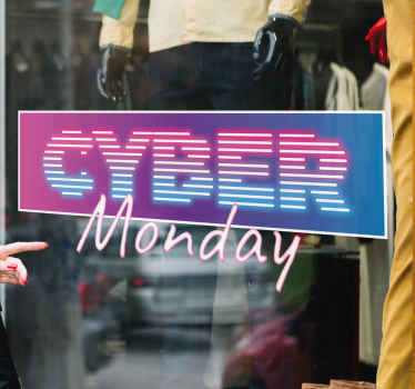 Its time to make that massive discount sales for cyber Monday with our decorative adhesive cyber Mondays sales holiday decal.