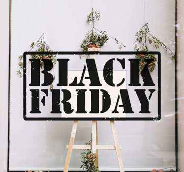 Decorative customizable black Friday holiday sales decal for business front window and other surface. It is original, self adhesive and easy to stick.