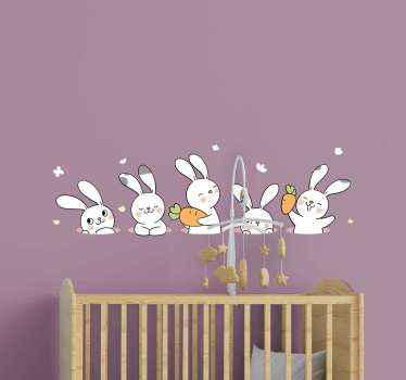 Pack of happy farm animal sticker design for your kid room. The design host different illustrations of animal with happy emoji faces.