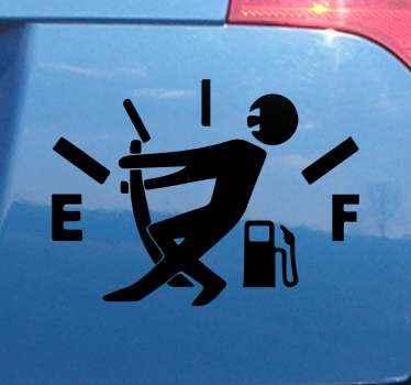 Grappige benzinemeter sticker voor uw auto gemaakt van hoogwaardig materiaal. Het product heeft een hoog oppervlak en is perfect voor iedereen.