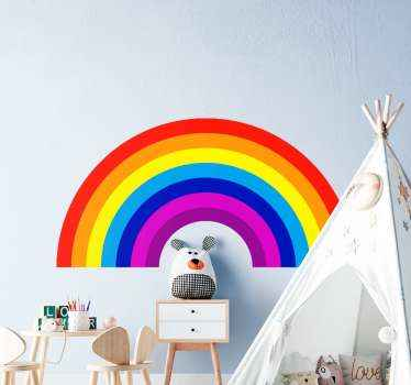 Decorative rainbow sticker for children. Make the bedroom of your child super colorful and fun in our original decorative kids rainbow decal.