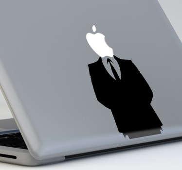Sticker decorativo homem em fato MacBook