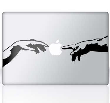 Läppäritarra mac koskettavat kädet