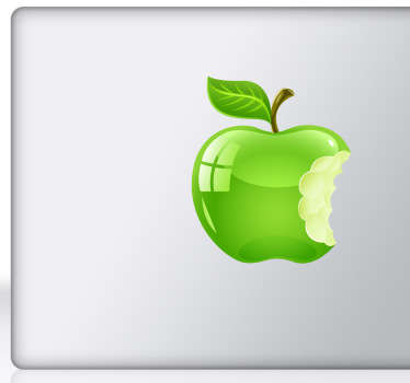 Green Apple Laptop Sticker