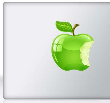 Naklejka nadgryzione jabłko