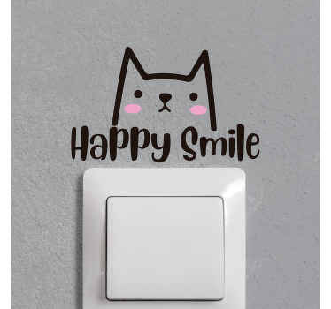 Simple and cute decorative switch sticker. This design is a lovely idea for children bedroom space but it can also be applied on other switch spaces.