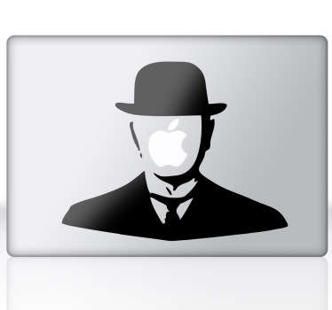Magritte pop art sticker