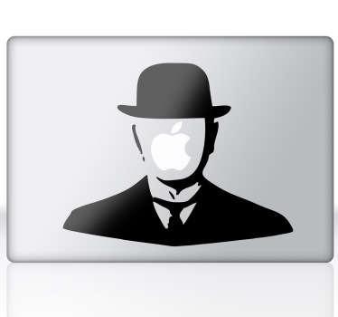 Sticker mac apple Magritte