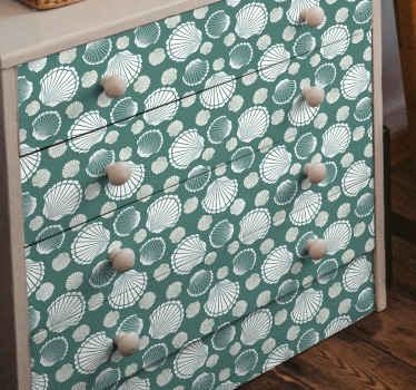 オリジナルの装飾的な貝殻家具デカールで、キッチン、リビングルーム、ベッドルームなど、家具スペースを飾りましょう。