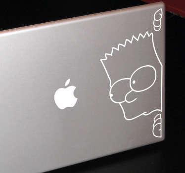 Sticker pc portable Bart guette