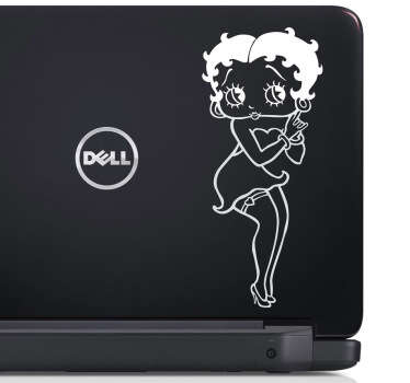 Autocollant pc portable Betty Boop