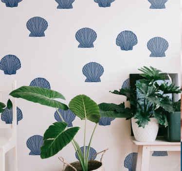 最高品質のビニールで作られた高品質のブルートーンの貝殻ステッカーで、素敵で魅力的な方法であなたの家の空間の外観を改善してください。