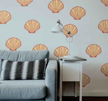 Precioso vinilo pared comedor de conchas marinas para decorar un salón u otro espacio para darle un toque exclusivo ¡Compra online!