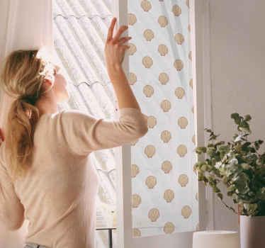 Vinilo para cristales con diseño de concha Encantador para la habitación de un niño, salón u otras estancias. Medidas personalizables ¡Envío express!