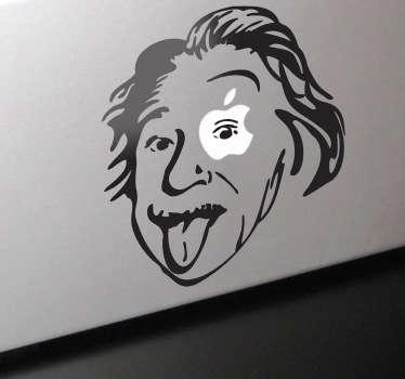 Einstein Apple Theme MacBook Sticker