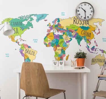 Nádherne navrhnutá tapeta s mapou sveta pre každú izbu vo vašom dome! S vlastnosťami proti bublinám a zvlneniu, ideálne pre každú stenu.