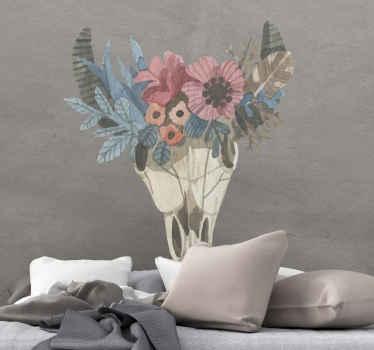 Autocollant de fleur aquarelle ornementale pour chambre à coucher. Le design peut également être appliqué sur un salon et tout autre espace de choix.