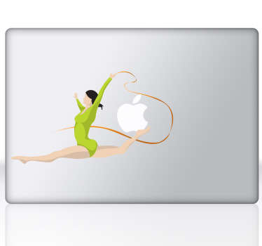 Gymnast Laptop Sticker