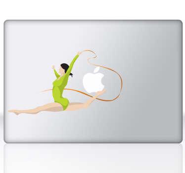 Sticker décoratif gymnaste PC portable