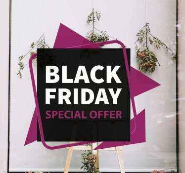 Fond de vente de vendredi noir décoratif avec détails de l'offre. Le design a le style d'une étiquette et peut être appliqué sur n'importe quelle surface plane.