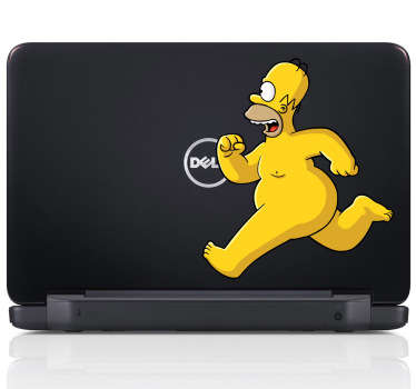 Naked Homer Simpson Laptop Sticker