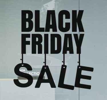 ブラックフライデーの販売のためのビジネスウィンドウステッカー。 。ブラックフライデーセールのショーウィンドウステッカーで認知度を高め、売り上げを伸ばしましょう。