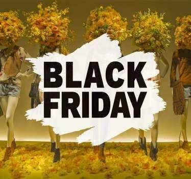 あなたのビジネスの場所のためのブラックフライデーの販売を促進するための装飾的なブラックフライデーの販売ステッカー。塗布が簡単で、粘着性があります。