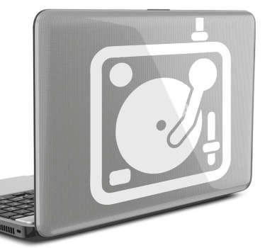 Laptop Aufkleber DJ