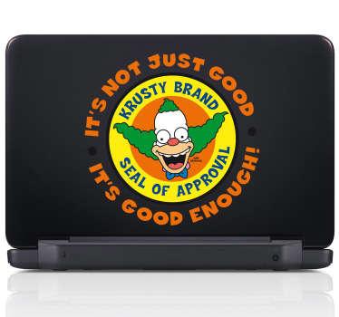 Sticker pc portable Krusty le clown