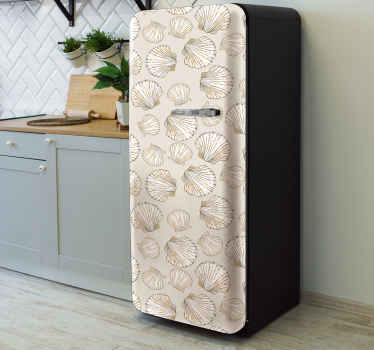 Beautify the door space of your fridge with our decorative seashell decal for fridge. The design contains various prints of seashells in  sizes.