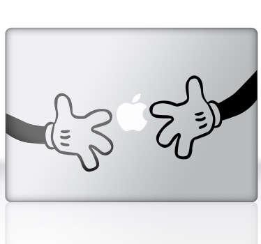 Sticker decorativo mãos do Mickey MacBook