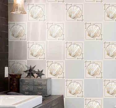 キッチンとバスルームスペース用の美しいタイルステッカー。私たちの驚くべき貝殻のウォールステッカーであなたの家の壁をどんなスペースでも美しくしてください。