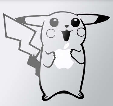 A fun design inspired on the Pokemon star, Pikachu! This creative decal from our collection of MacBook stickers is perfect your device!