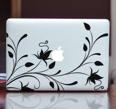 Naklejka na laptop pnącza