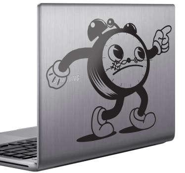 Comic Clock Laptop Sticker