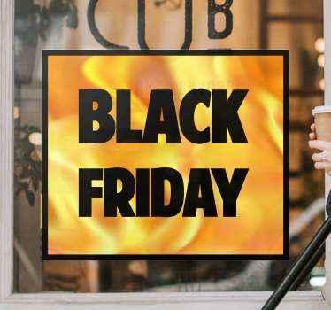 Vierkante achtergrond black friday sticker voor zwarte vrijdag verkoop gemaakt met kleurrijk thema. Een ontwerp dat u zeker leuk zou vinden in u ruimte.
